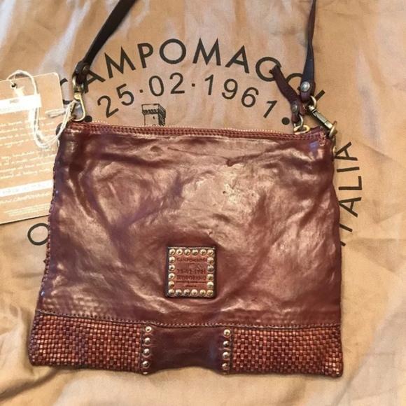 236880b52d26 Campomaggi Italian Leather Bag NWT